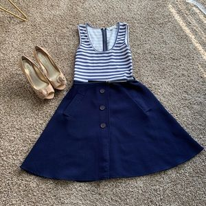 Striped dress with belt and pockets UK 12/US 4-6